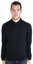 Armani Jeans 8N6F13 6J0SZ 1200 Long Sleeved Polo Shirt Black