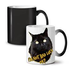 Bad Luck Noir Funny Cat Changeant Couleur Thé Tasse de Café 11 OZ (environ 311.84 g)   wellcoda