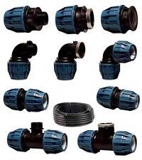PE Rohr Kunststoff (PP), Klemmverbinder Fitting Verschraubung Trinkwasser DVGW