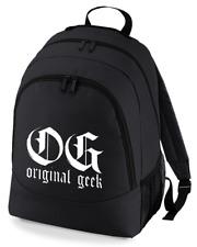 OG Original Geek-Nerdy Gangsta, albern, Funny Print Backpack Unisex Rucksack Tasche