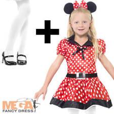 Lindo Ratón + Calzas Niñas Vestido Elaborado Disfraz De Animal De Ratas Roedores Niños Childrens