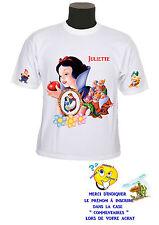 tee shirt fille princesse blanche neige personnalisable prénom réf 134