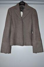 $2990 New A-K-R-I-S AKRIS Jacket Blazer Coat Nesrin Ash Brown Grey Linen Flax 6