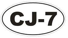 CJ-7 Oval Bumper Sticker or Helmet Sticker D1974 Euro Oval JEEP OFFROAD