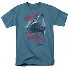 Jaws Movie Shark Smile Licensed Adult Shirt S-3XL