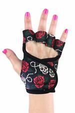 Women's Best Gym Workout Weightlifting Gloves by G-Loves - 1 pair - Sugar Skulls