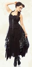 Lip Service Mecanique Menagerie Goth Steampunk Victorian Chiffon Black Gown
