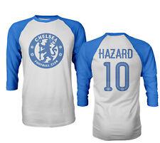 Chelsea Eden Hazard #10 Soccer Mens Raglan Quarter Sleeve T-Shirt