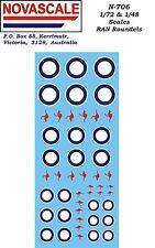 RAN Hi-Vis Roundels Decals 1/72 & 1/48 Scales N706