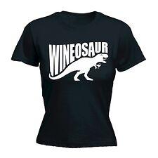 Women's Wineosaur Funny Joke Adult Humour Dinosaur Wine FITTED T-SHIRT Birthday