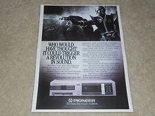Pioneer P-D70 erste Pioneer Player AD, 1 Seiten, Artikel, Audio Geschichte! 1984