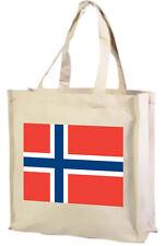 BANDIERA NORVEGESE Cotone Shopping Bag-Scelta di Colori: Nero, Crema,