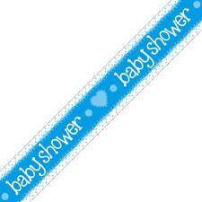 baptême feuille Bannière Fête Décoration bleu garçon Cœurs pois holographique