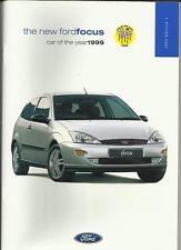 FORD FOCUS CL, ZETEC,  LX, & GHIA   SALES BROCHURE 1999 EDITION 1