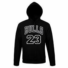 Felpa Cappuccio CHICACO BULLS Sweatshirt rock Hoodie Urban JORDAN MICHEAL NBA
