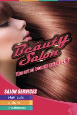 Beauty Hair Salon Shop Store Poster Window Door Decor Store Paper Poster B-02
