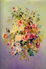 BOUQUET OF ROSES FLOWERS 1879 BY PIERRE AUGUSTE RENOIR REPRO