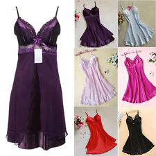 Cozy Women Silk Lace Nightgowns Chiffon Spaghetti Straps Sleepwear Robes Qe
