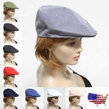 Mens Mesh Ivy Hat Fashion Newsboy Cabbie Ventair Flat Golf Cap Unisex Hats New