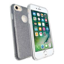 Apple iPhone 7 Ultra - SOTTILE NERO GLITTER Metallica Morbida Gel TPU SILICONE