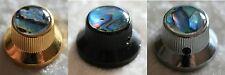 Metallknopf Potiknopf Reglerknopf Knopf gold mit Abalone Einlage Inlay