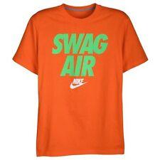 """Nike """"Swag Air"""" T-Shirt Electro Orange Men's Large XL BNWT FREE SHIPPING"""