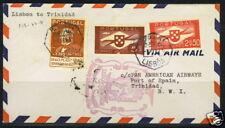 PORTUGAL 1941 FIRST FLIGHT LISBON TO TRINIDAD