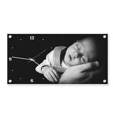 Personalizzata Acrilico Rettangolo immagine parete con orologio incorporato. FOTO REGALO