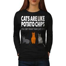 Cats Potato Chips Women Long Sleeve T-shirt NEW   Wellcoda