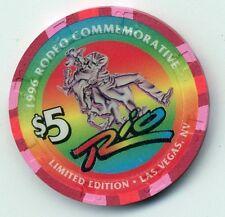 LAS VEGAS RIO CASINO 1996 RODEO $5  CASINO  CHIP