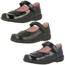 Girls Startrite Flower Detail Hook & Loop Patent/Leather School Shoes Fleur