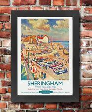 TU52 Vintage Sheringham Norfolk British Railways Framed Travel Poster A3/A4
