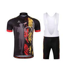 Men's Cycling Short Set Reflective Bicycle Jersey and (Bib) Shorts Padded Kit