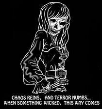 WICKED TERROR GOTHIC GOTH SKELETON GIRL SKULL T-SHIRT