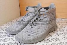 RARE Nike Free Inneva WVN Mid SP Silver Grey racer flyknit yeezy MEN 7.5,8,9,9.5