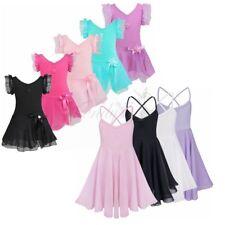 Girls Kids Gymnastics Ballet Dress Leotard Tutu Skirt Party Dance Wear Costume