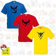 Pokemon Go Team valor místico instinto T-shirt regalo símbolo Pikachu Pokebola Tee