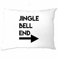 Rude Christmas Pillow Case Jingle Bell End & Arrow Joke Adult Funny Xmas