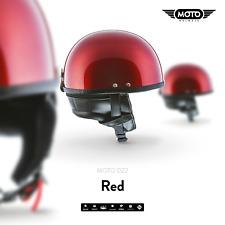 MOTO D22 BRAINCAP + HALBSCHALEN-HELM JET-HELM Motorrad-HELM RETRO MOFA / S-XXL