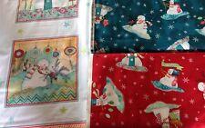 Red Rooster telas Cálido deseos de Navidad material Navidad reservado