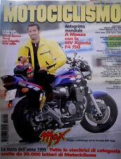Motociclismo 86 1999 A Monza con la MV Agusta F4 750. Ducati Monster City 750