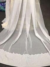 Crystal Sheer Curtain Various Widths 270 cm Drop  -Cornelli Hem - Ivory-Quality