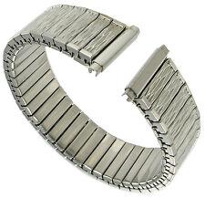 16-19mm Straight End Twist-O-Flex Silver Tone Watch Band Regular 1130/02