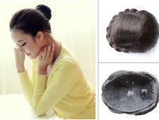 Haarteil Zopf Dutt Perücke mit Clips Haarverlängerung Hochsteckfrisur  H103 Neu