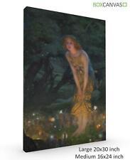 Pre Raphalite Canvas S3  ArtH Edward Robert Hughes Midsummer Eve C