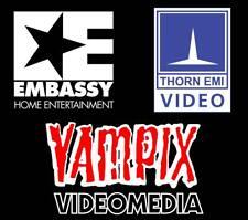 Vampix, Thorn,Embassy 80's Video Nasties Pre Cert Cult Video VHS movie T-shirts