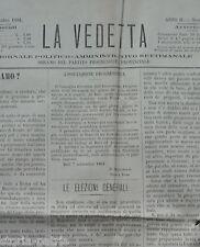 LA VEDETTA_ANTICO GIORNALE_PUGLIA_BARI_GRAVINA_GARIBALDI_RIBETTI_FAENZA_CAPRUZZI