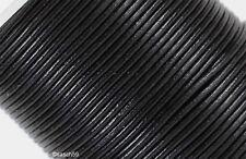 Lederband Lederriemen Rundlederriemen echt Leder Lederbänder schwarz 3mm ab 1m