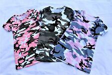 Mädchen Kleid Tarnkleid Camouflage Sommerkleid Army Shirtkleid Trend 104-146 Neu