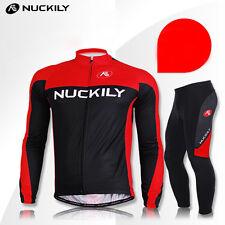 Bike Bicycle Cycling Anti Froid Vêtements Jersey Pantalon Manche Longue Rembourré Chaud Costume